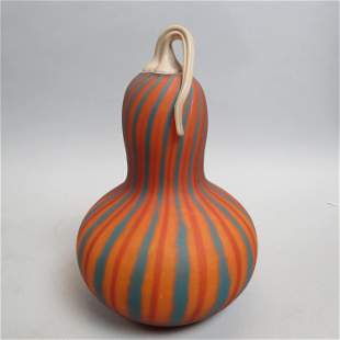 Limoges Art Glass Gourd by Patrick Crespin,