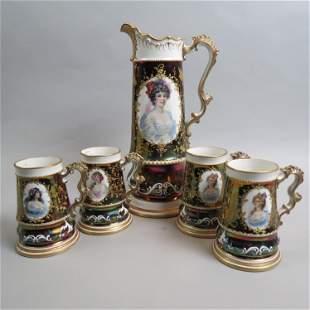 Knowles, Taylor & Knowles Porcelain Tankard & Mugs