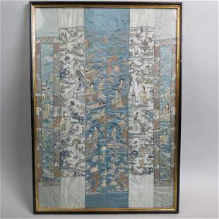 Chinese Silk Embroidery with Figures,
