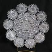 Hawkes Brilliant Period Cut Glass Dish,