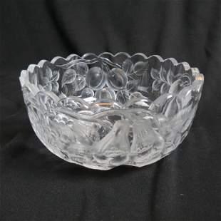 Brilliant Period Intaglio Cut Glass Bowl,
