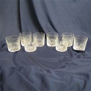 """8 Waterford Crystal """"Lismore"""" Old Fashions,"""