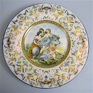 Italian Majolica Pottery Charger,