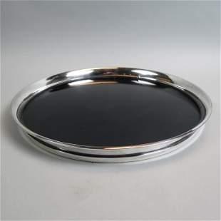 Gorham Sterling Silver & Black Lucite Tray,