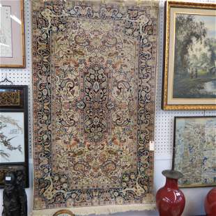Silk Tabriz Style Persian Handmade Rug,