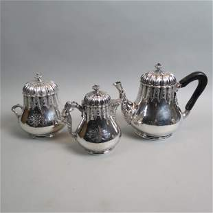 Early Tiffany Sterling 3 pc. Tea Set,