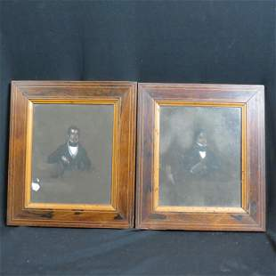 Pair of 1834 French Portraits of Gentleman,