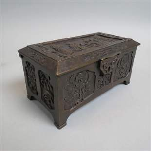 French Bronze Jewelry Box,