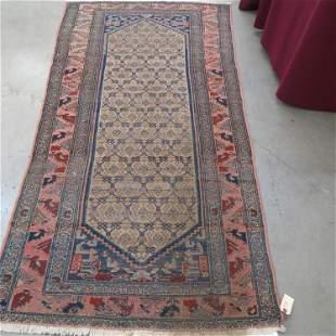 Hamadan Type Persian Handmade Rug,