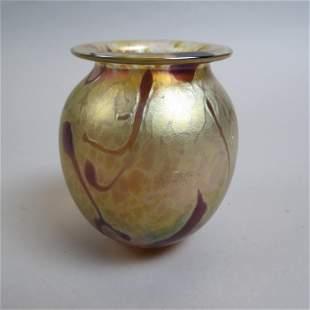 Robert Eickholt Art Glass Vase,