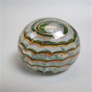 Dominick Labino Art Glass Paperweight,
