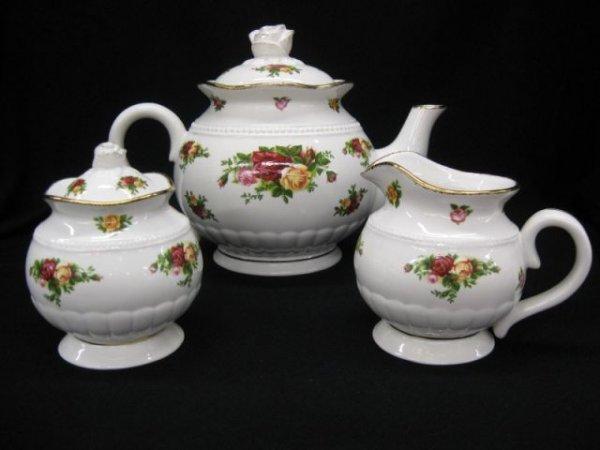 5: Royal Albert Tea Set, Old Country Roses, teapot,