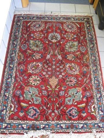 16: Tabriz Persian Handmade Rug, fancy overall floral