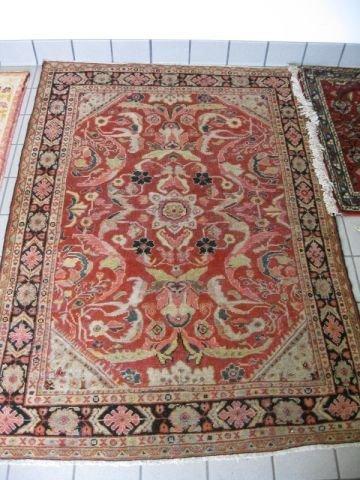 17: Mahal Persian Handmade Rug, overall floral, salmon