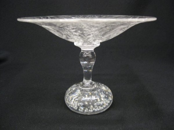 20: Pairpoint Crystal Compote, etched design