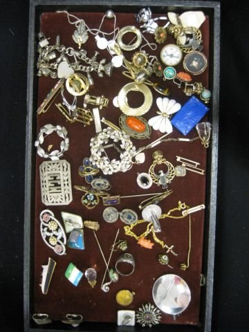 456: Estate Jewelry Lot; sterling, gold-filled, costume