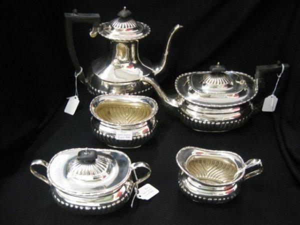 509: 5 pc. Sheffield Silverplate Tea & Coffee Service,