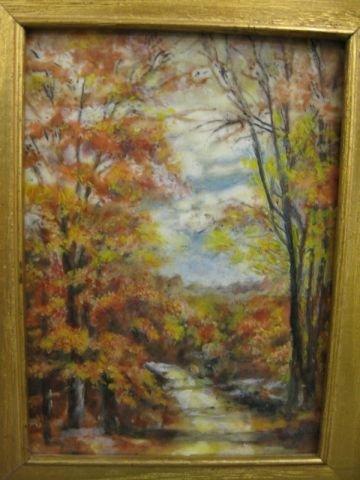 512: Fine Painting on Porcelain, autumn landscape,