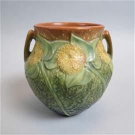 """Roseville Pottery """"Sunflower"""" Vase 1930,"""