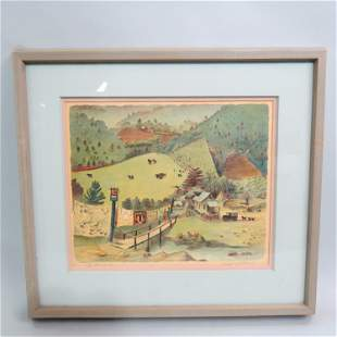 "Buell Whitehead, lithograph, ""Chenille Factory"","
