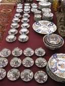 682 106 pc Japanese Imari Porcelain Dinner Service va