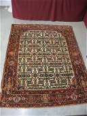 855 Hamadan Style Persian Handmade Rug overall styliz