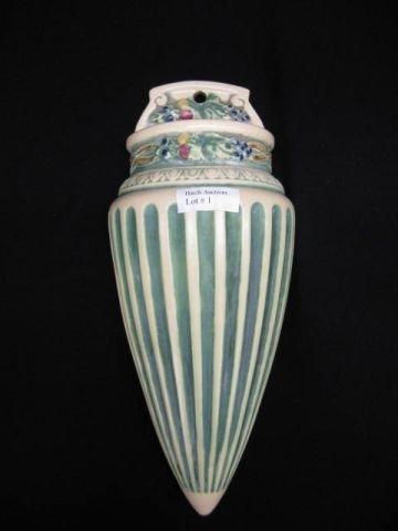 1: Roseville Corinthian Art Pottery Wall Pocket,