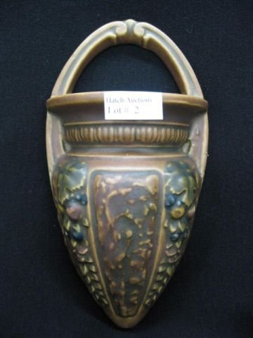 "2: Roseville Florentine Art Pottery Wall Pocket, 8 1/2"""