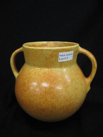 5: Roseville Tourmaline Art Pottery Vase, orange yellow