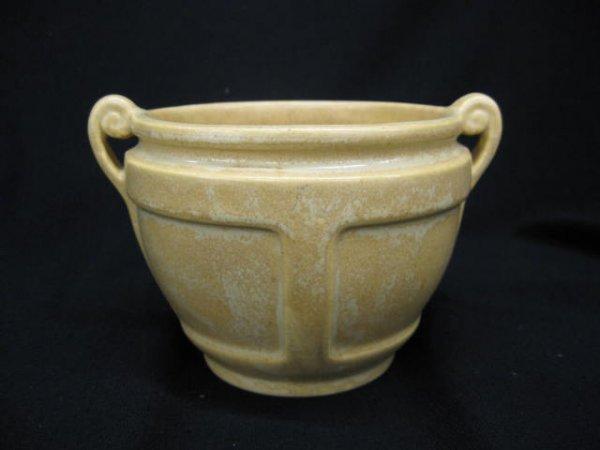 6: Roseville Art Pottery Vase, handled, paneled, Arts &