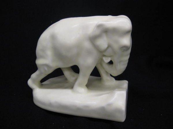 8: Rookwood Art Pottery Figurine of an Elephant, ivory