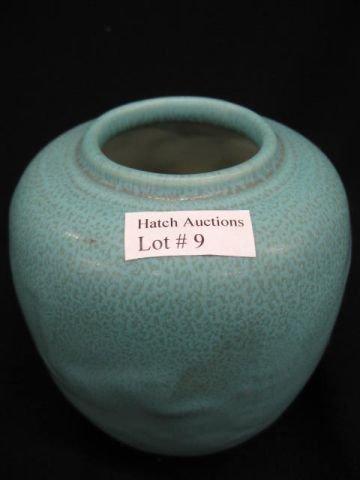 9: Rookwood Art Pottery Vase, raised design, blue