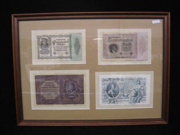 13: 4 pcs. Large Vintage European Paper Money.
