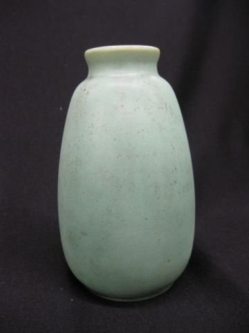 16: Teco Art Pottery Vase, Arts & Crafts era, green