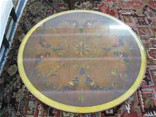 269B Italian Handpainted Mahogany Coffee Table ornate