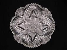 502 Brilliant Period Cut Glass Dish
