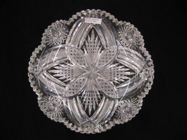 502: Brilliant Period Cut Glass Dish,