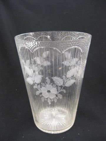 507: Fine Engraved Glass Vase Attributed to Libbey,