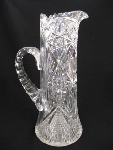 520: Brilliant Period Cut Glass Champagne Pitcher,