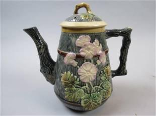 Majolica Pottery Coffeepot