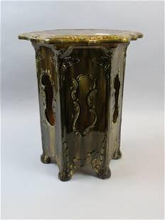 Majolica Pottery Stand