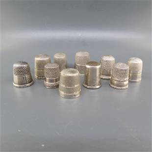 10 Sterling Silver Thimbles