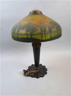 Handel (?) Reverse Painted Lamp, Teroma style