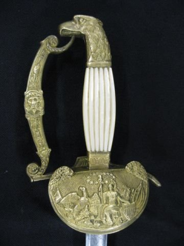 2: M1825 Naval Officer's Sword, mother-of-pearl grips,