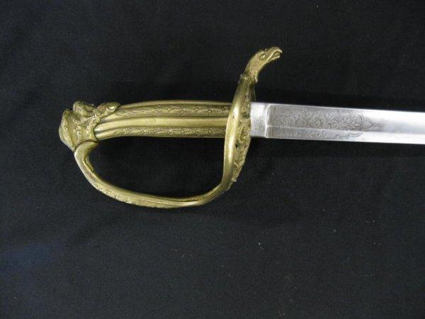 20: 1850 Staff & Field Presentation Grade Sword, Lunesc