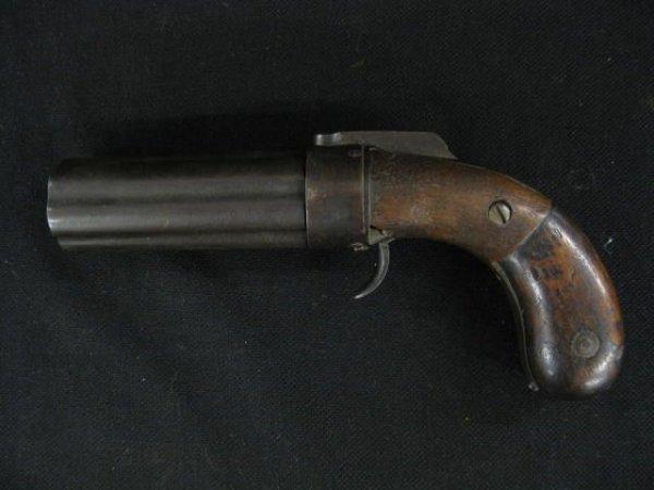 75: 19th Century Pepperbox Pistol, Percussion