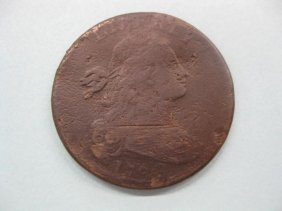 1798 U.S. Large Cent, Draped Bust, Style 2 Hair,