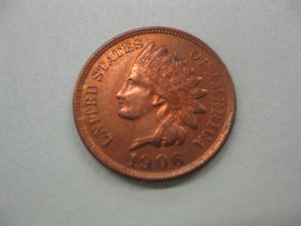 168: 1906 Indian Head Cent, uncirculated.