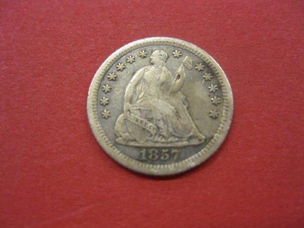176: 1857-O U.S. Half Dime, liberty seated, VF/XF.