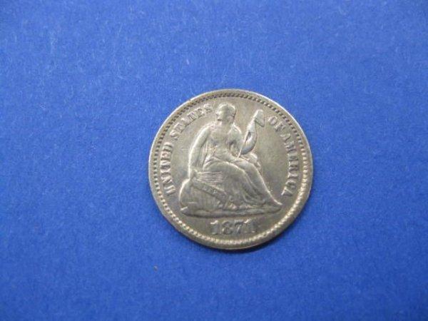 177: 1871 U.S. Half Dime, VF/XF.